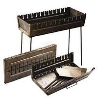 Мангал чемодан из металла на 12 шампуров