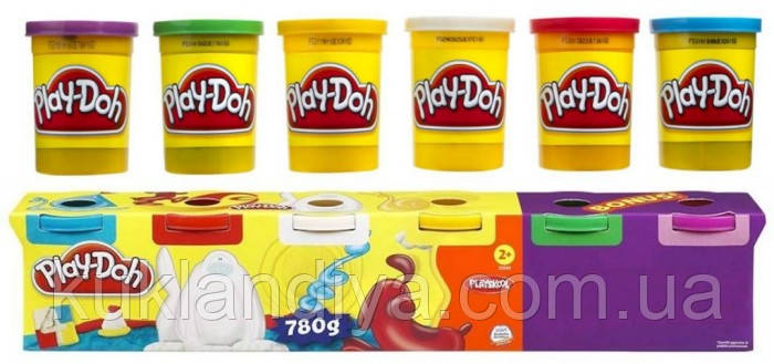 Набор пластилина из 6 банок Hasbro Play-Doh