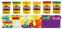 Набор пластилина из 6 банок Hasbro Play-Doh