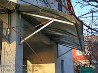 Козырек над крыльцом из поликарбоната