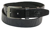 Кожаный ремень Skipper 110-130 x 3.8 см Черный 1007-38, КОД: 390083