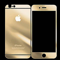 Защитное стекло для iPhone 6 двухстороннее gold 0.3mm