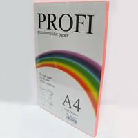 Кольоровий папір PROFI А4/80г 100арк №342 неон рожевий