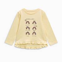 Кофта хлопковая для девочки с радугой Jumping Beans Rainbow vibes Желтая (51387)