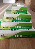 Переносной светодиодный прожектор 12v 10w LED 10w 12v (на зажимах крокодилах), фото 3