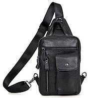 Кожаный Рюкзак кожаный Tiding Bag 4006A