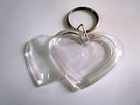 Акриловый Брелок в форме сердца (47*40) (заготовка)