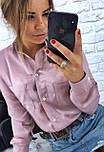 Хлопковая женская рубашка с карманами на груди vN1363, фото 2