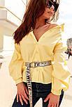 Женская свободная рубашка с широкими рукавами vN1387, фото 5
