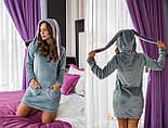 Домашнее женское платье из махры с ушками vN1448, фото 6