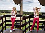 Женская пижама из хлопка со штанами vN1449, фото 2