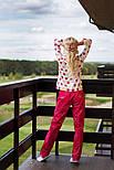 Женская пижама из хлопка со штанами vN1449, фото 3