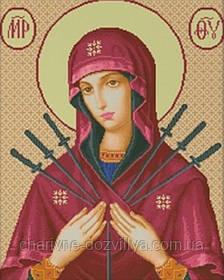 """Набор для вышивания крестиком икона """"Богородица Семистрельная"""""""