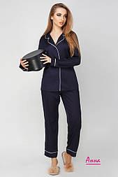 Шелковая женская пижама со штанами vN1463