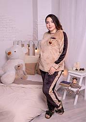 Женская пижама большого размера из махры высокого качества vN1470