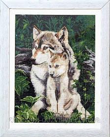 """Набор для вышивания крестиком """"Волки - под защитой матери"""""""