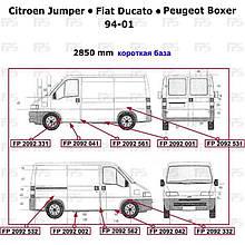Ремчасть права Citroen Jumper до 2001 гв. ( Сітроен Джампер )