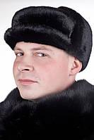 Мужская зимняя Шапка  из натурального меха нерпы Mn-3
