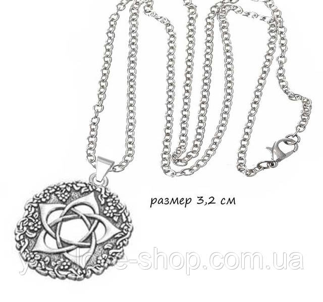 Кулон пентаграмма богини в виде розы