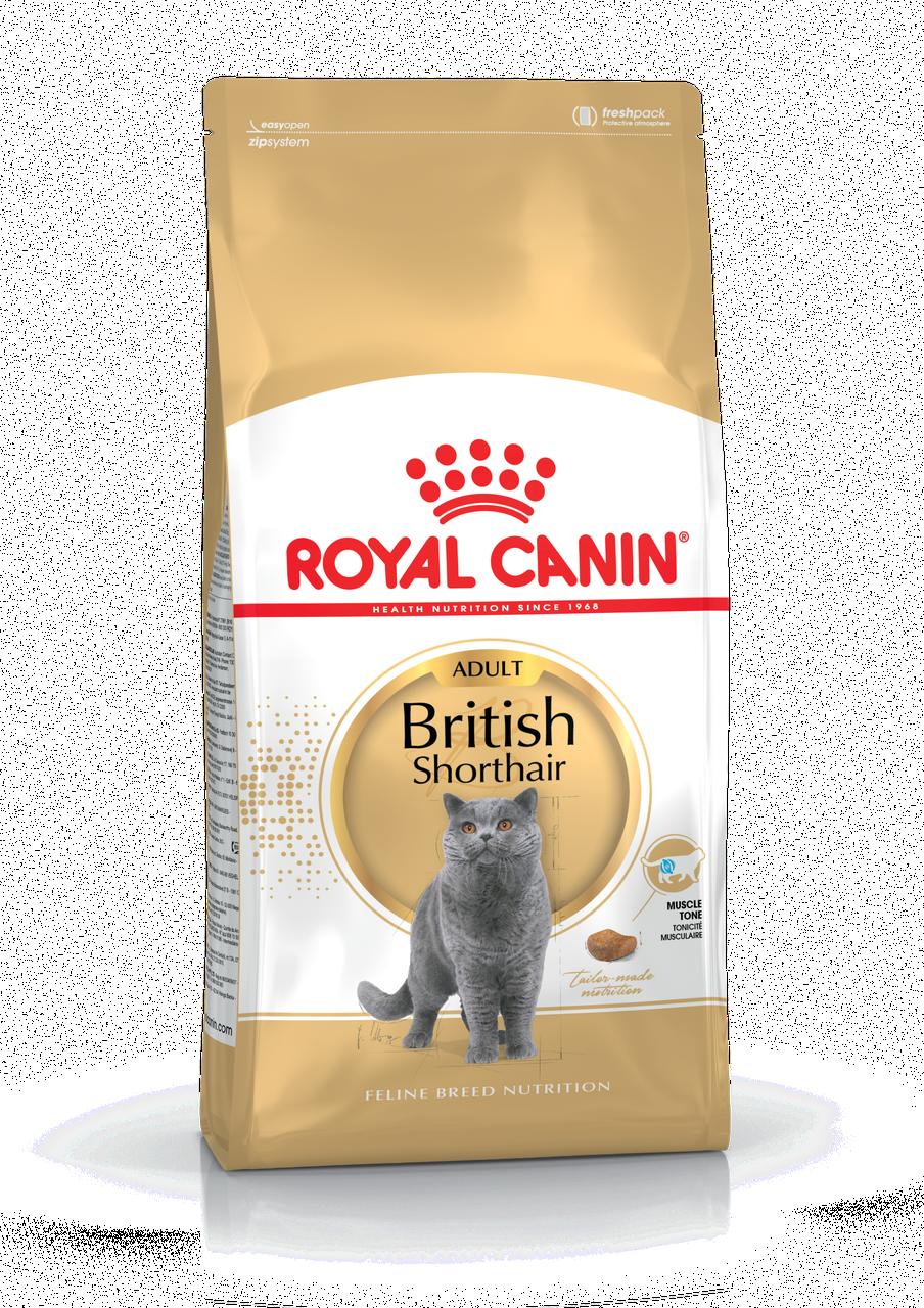 Корм для кошек британской короткошерстной породы Royal Canin BRITISH SHORTHAIR ADULT 2 кг