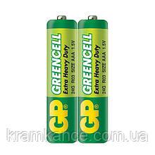 Батарейка GP  24G-S2 R03 AAAGreencell (2 шт.)