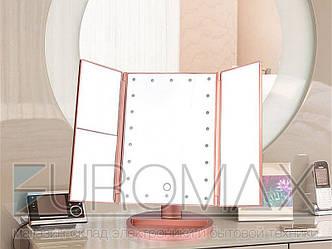 Зеркало настольное тройное 24шт 00033