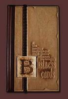 Визитница кожаная настольная Business cards Модель 7