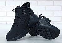 Кроссовки Nike Huarache X Acronym City Winter мужские, черные, в стиле Найк Хуарачи Акроним, код KD-11659