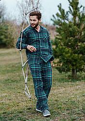 Мужская пижама из фланели. Польша.KEY MNS 048