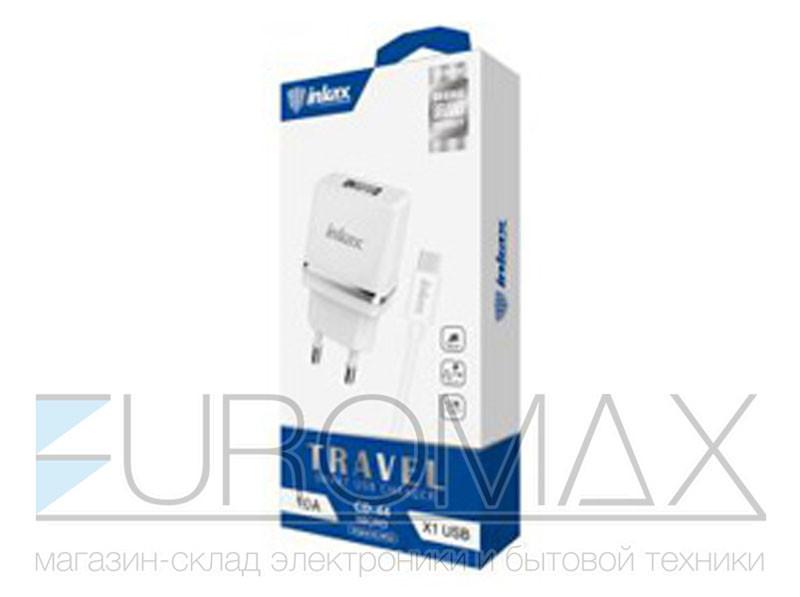 Зарядное устройство 12В с кабелем USB - micro USB Inkax (уп. 20шт) 200шт CD-44-M-V8