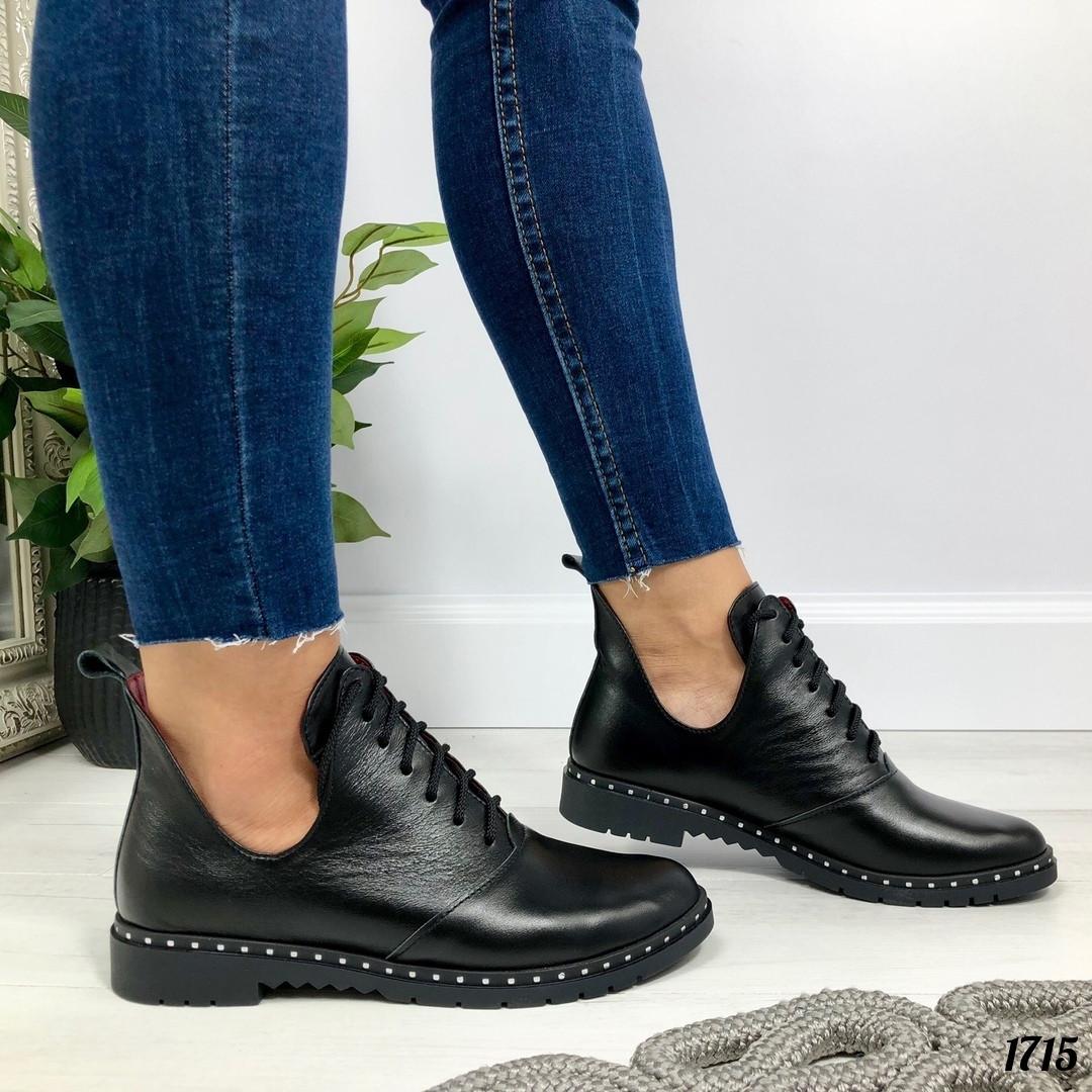 Короткие черные ботинки