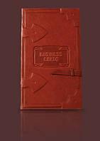 Визитница кожаная настольная Business cards Модель 1