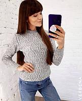 Женский вязаный свитер в расцветках. ВЕ-8-0919