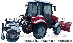 Щетка дорожная к мини-тракторам