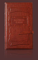 Визитница кожаная настольная Business cards Модель 3