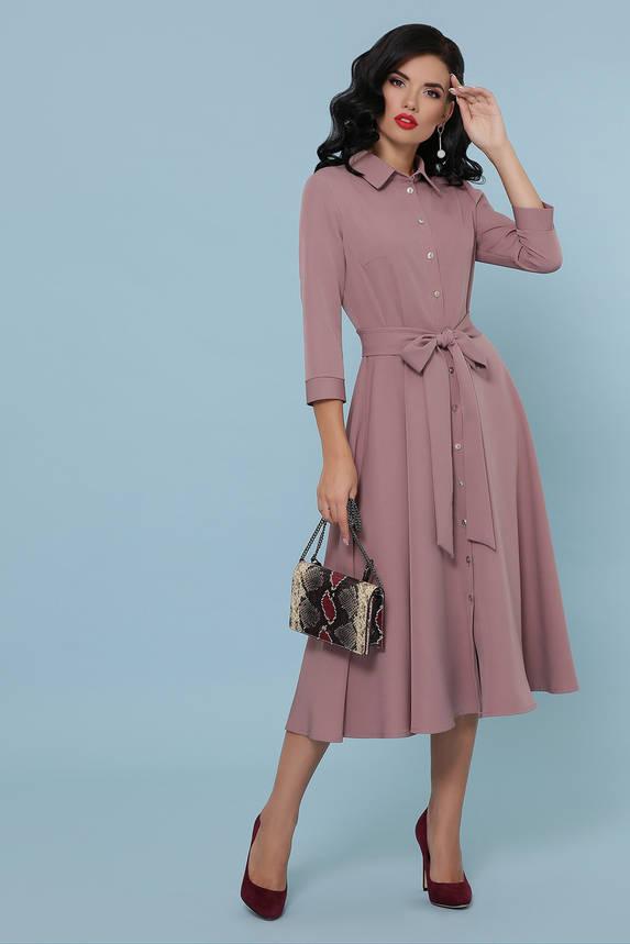 Платье рубашка с юбкой солнце клеш, фото 2