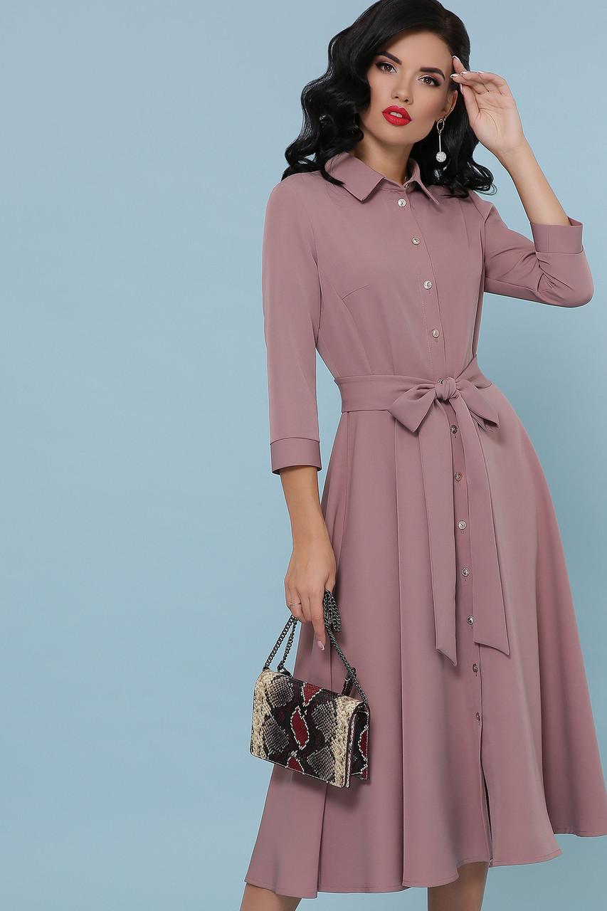 Платье рубашка с юбкой солнце клеш