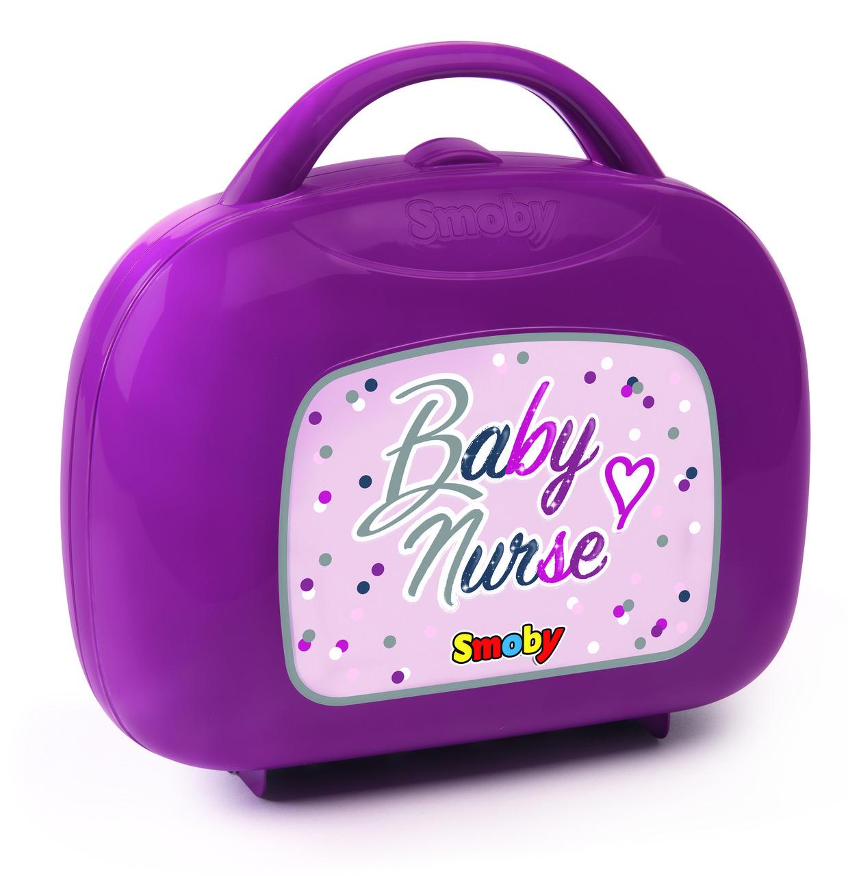 Чемоданчик с аксессуарами по уходу за куклой Baby Nurse Smoby 220341