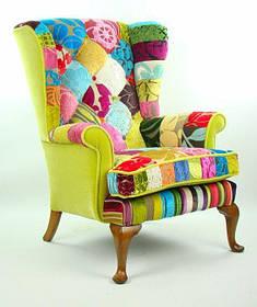 Кресло Каминное в стиле Пэчворк №1 (Мебель-Плюс TM)