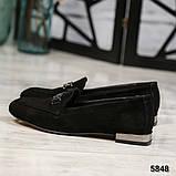 Шикарные замшевые туфли лоферы с декором, фото 4