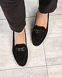 Шикарные замшевые туфли лоферы с декором, фото 5