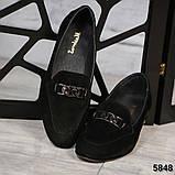 Шикарные замшевые туфли лоферы с декором, фото 2
