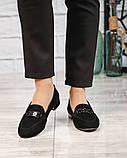 Шикарные замшевые туфли лоферы с декором, фото 3