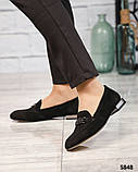 Шикарные замшевые туфли лоферы с декором, фото 6