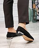 Шикарные замшевые туфли лоферы с декором, фото 7
