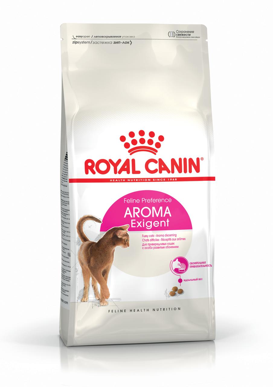 Корм для кошек привередливых к запаху продукта Royal Canin EXIGENT AROMATIC 2 кг