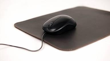 Кожаный коврик для мышки Винтажная кожа цвет Шоколад