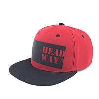 Кепка снепбек красная премиум HEADWAY® snapback