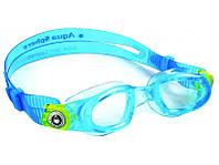 Очки для плавания ребенку Aqua Sphere Moby Kid, clear lens aqua/lime