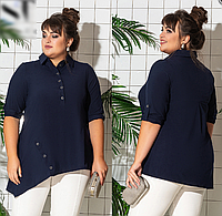 Рубашка женская с подкатывающимся рукавом, с 52-62 размер, фото 1